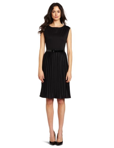 Jones New York Women's Pleated Dress