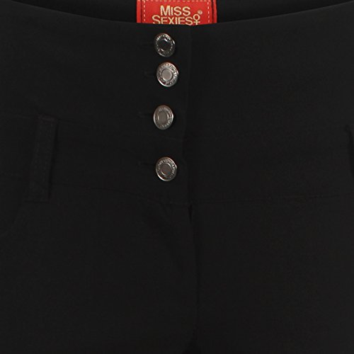 Miss Sexies - Pantalón - Pantalones - para mujer BLACK 4 BUTTON