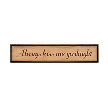Your Hearts Delight Always Kiss Me Goodnight Wood Door Board Sign, 27-1/4 by 5-3/4-Inch
