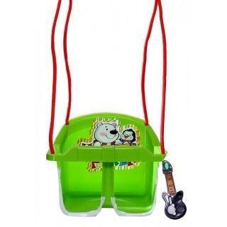 BrijBazaar Panda Eco Musical Swing - with Multiple Age Settings - Green