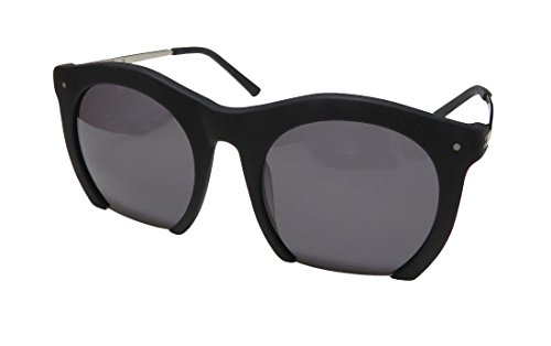 Grey Ant The Foundry Womens/Ladies Designer Half-rim 100% UVA & UVB Lenses Sunglasses/Eyewear (0-0-0, Matte Black / - Grey Sunglasses Ant