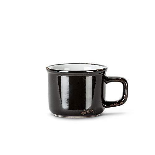Abbott Collection Enamel Look Stoneware Espresso Cup, Black