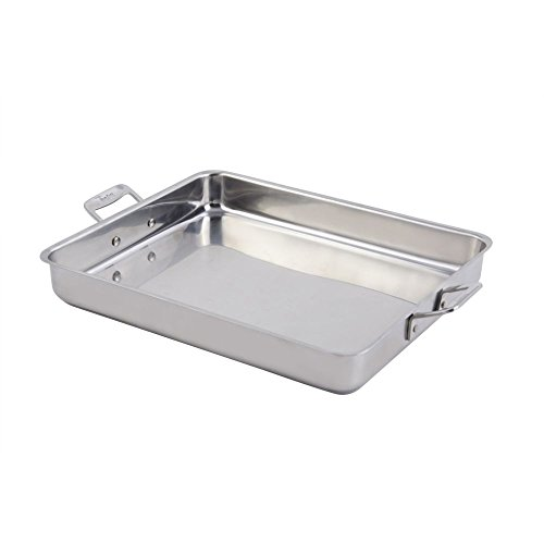 Bon Chef 60012CLD Stainless Steel Induction Bottom Cucina Large Square Pan, 5 quart Capacity, 14-5/8'' Length x 11-7/8'' Width x 2-1/4'' Height by Bon Chef