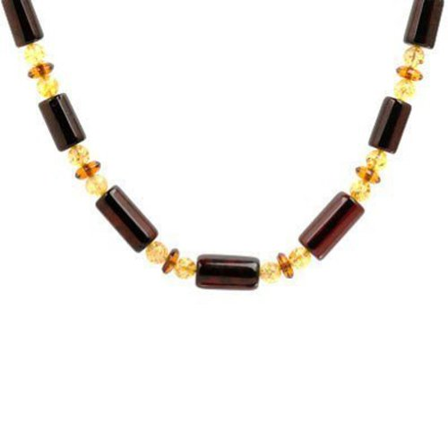 (Multicolor Amber Beads Necklace 20 Inches)