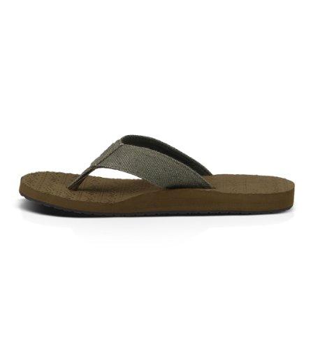 Sanuk Mens Squoosh Og Flip-flop Olive