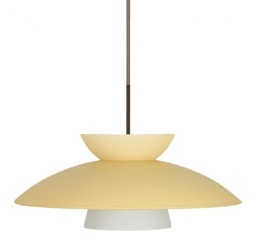 Besa Lighting 1JT-451397-BR 1X75W A19 Trilo 15 Pendant with Champagne Glass, Bronze Finish ()