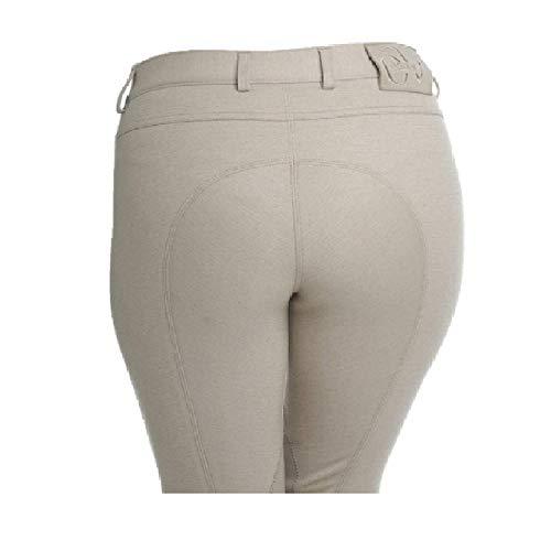 Knit Riding Pants - Ovation Euro Melange Knee Patch Breech 30 Beige