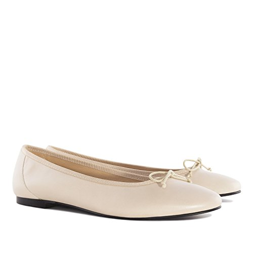 Spain Machado ballet Leather In Beige Leather Andres marta Sizes Flats large Black made 4qwHvd