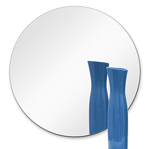 TroySys 8 Inch Round Mirror 1 4 Inch Thick, Flat Polish Edge 10 ea. in 1 Box