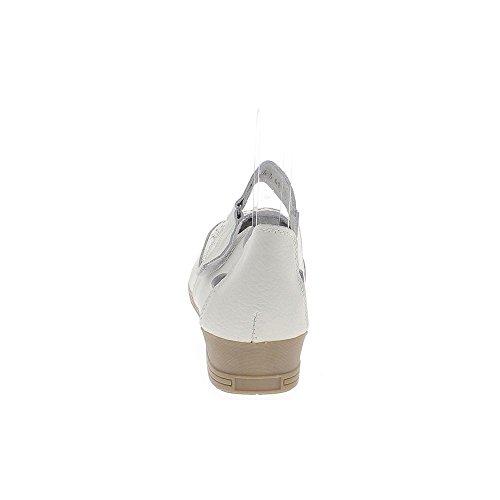Ballerines cuir grande taille blanches confortables talons compensés de 3,5cm