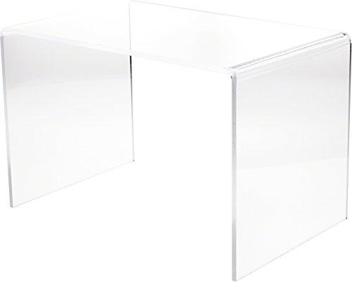 Plymor Clear Acrylic Rectangular Display Riser, 14 H x 21 W x 14 D 3 8 Thick