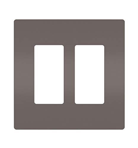 (Legrand - Pass & Seymour radiant RWP262 Two-Gang Screwless Wall Plate, Brown)
