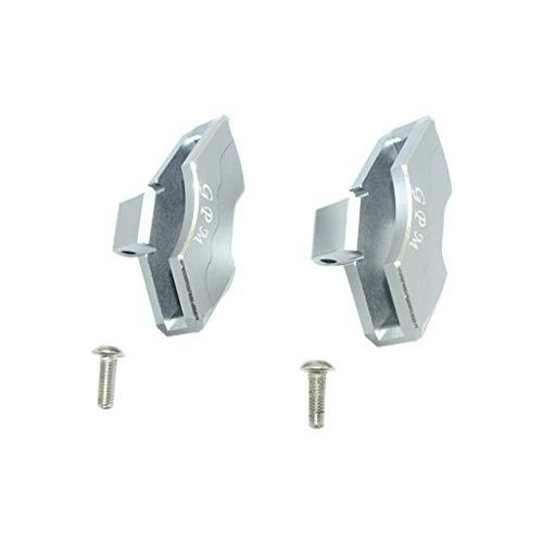 Binory GPM Aluminium Front/Rear Brake Caliper Part Set for Traxxas 1/7 UDR RC Car(Gray)