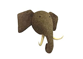 wall decor wall hanging wool made animal head elephant head - Animal Head Wall Decor