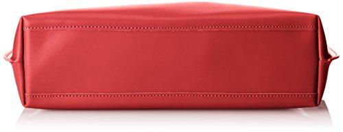 CTM Satchel Bag por mujeres con estilo, 47x30x14cm, cuero genuino 100% Made in Italy Rojo (Rosso)