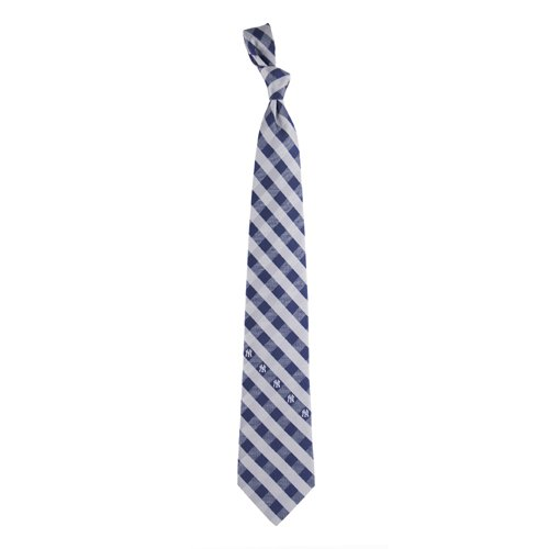 New York Yankees Check Poly Necktie