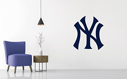 Logo Wall Decal - Baseball Team Logo - Wall Decal Removable & Reusable For Home Bedroom (Wide 20