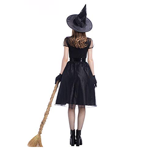 X-SPORT Women's Halloween Party Role Play Cosplay Costume Make up Party Dress Classic Fairytale Dress Witch -