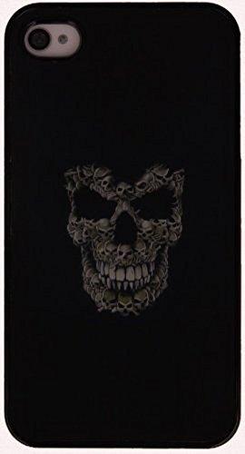 "B-Ware / 3D Handy Back Hart Case Cover ""Totenkopf"" für ""Apple Iphone 4 4S"" Handy Tasche Schale Schutz Hülle Bumper Etui"