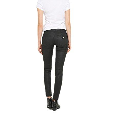 negro encerado Negro Guess Pantalón de Pq4BwCCSy