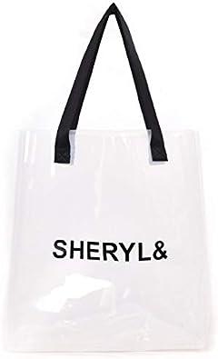 Fashion Large Bag in Bag Women Jelly Transparent Beach Handbag Tote Shoulder Bag