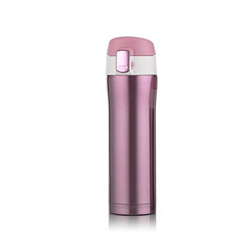 Price comparison product image GBSELL Water Bottle Travel Sport Exercise Mug Office Coffee Tea Cups Stainless Steel Cup (Purple)