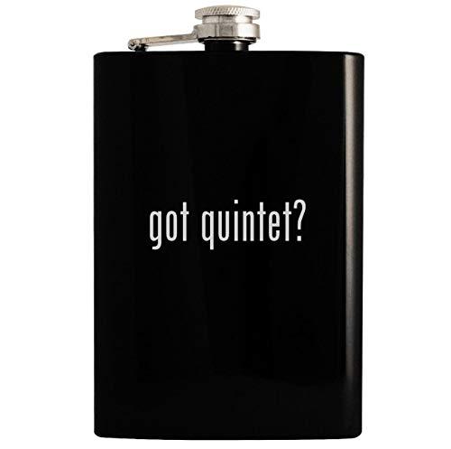 got quintet? - 8oz Hip Drinking Alcohol Flask, Black