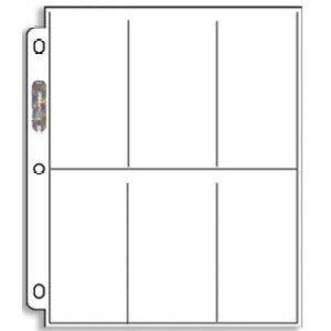 Ultra Pro Platinum Series 6-Pocket Coupon Storage Page (Package of 20 Vertical Pages)