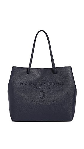 Marc Jacobs Women's Logo Shopper Tote, Midnight Blue, One Size