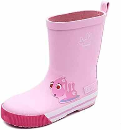 33f57330b DUANGUOYAN Rain Boots- Children's Boys and Girls Rain Boots Four Seasons Non -Slip Rubber