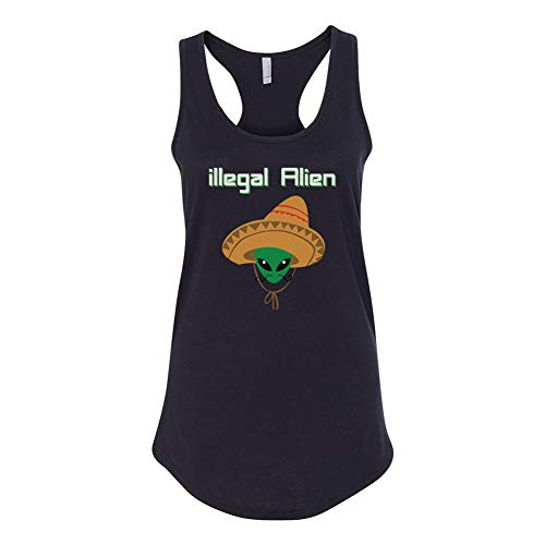 Illegal Alien Hat Juniors Funny Black Tank Top]()