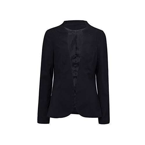 Giacche Jacket Blazers Tailleur Outerwear Nero Autunno Lunga E Cardigan Manica Tops Moda Primavera Cappotto Coat Sottile Donne Ib6fgYy7v