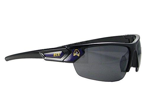 East Carolina Pirates Black Purple Mens Womens Sport Sunglasses ECU (Pirates Black Sunglasses)