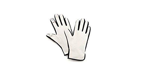 Women's Psyche Fleece Sensor-Touch Tech Gloves, Cream, Medium
