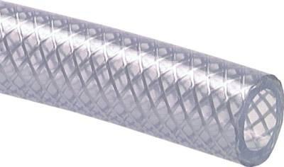 PVC-Gewebeschlauch 16,2 (5/8)x23,6mm, transparent, 100 mtr. Rolle Farbe:transparent