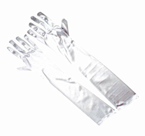 ウェディング ブライダル 小物 ロング グローブ レディース ファッション ウエディング ストレッチ サテン 58cm 手袋 結婚式 ガールズ フォーマル ウェア 選べる カラー 全 15 色 左右 セット