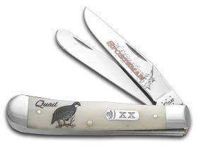 Case Quail Embellished Trapper Pocket Knife
