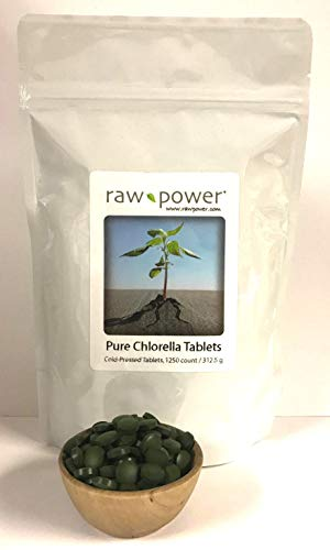 Chlorella Tablets (1250 Count, 250 grams), Cold-Pressed, Raw and Pure, from Raw Power Organics For Sale