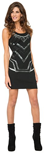 Rubie's Costume Co. Women's Marvel Classic Black Panther Costume Tank Dress