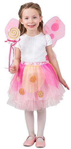Princess Paradise Lollipop Fairy Skirt Set Costume, Medium/Large