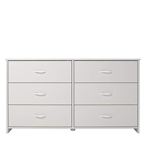 Ameriwood Home Classic 6 Drawer Dresser, White