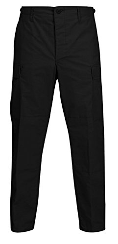Propper BDU Trouser, 100% Cotton Ripstop, Extra Small-Regular, Black. (Cotton International Propper Trousers)
