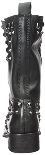 discount visa payment Schutz Women's Shanti Studded Mid Shaft Motorcycle Boot Preto discount shop offer classic cheap online real sale online U5xAT