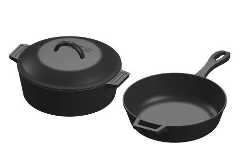Bayou Classic 7658 Cast Iron Cookware Set (3 Piece)