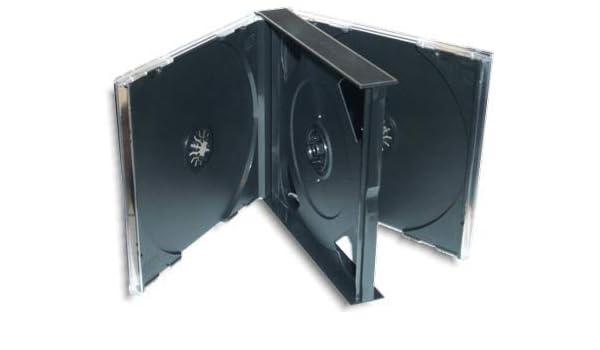 Black Tray 24mm Holds 4 discs 5 x Quad Jewel CD Cases
