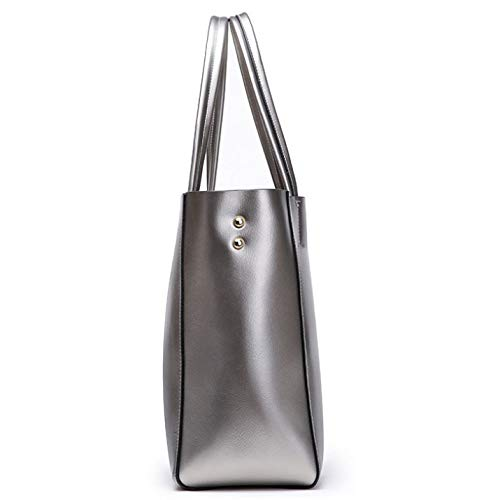 PU Décontracté à Sac Shopping Main Capacité Sauvage Silver Simple à à Sac Mode Main Grande Bandoulière Sac Dames Sac wqtx0t