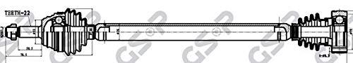 GSP 261010 Antriebswelle GSP Automotive Group Wenzhou Co. Ltd.