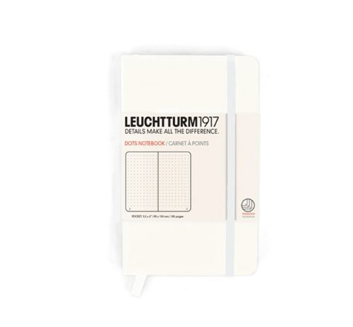 Leuchtturm Pocket Size A6 Hardcover Notebook - Dotted Pages - White