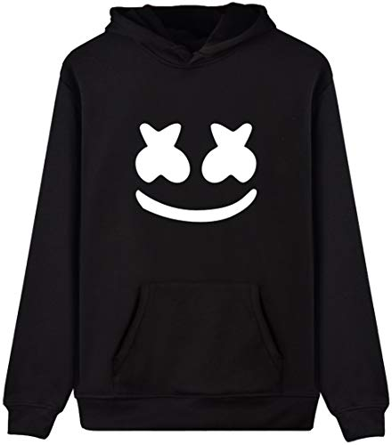 cad1cbc4ff2 EmilyLe Marshmello DJ Men Hoodie Fashion Cool Pullover Face Sweatshirt  (165-170cm(M