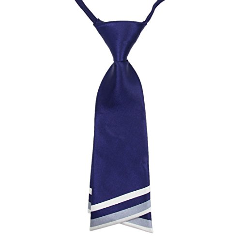 HANERDUN Womens Bowtie Ladies Pre Tied Silk Necktie Costume Accessory Gift Idea,Navyblue,One -